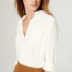 LOFT | White Utility Shirt